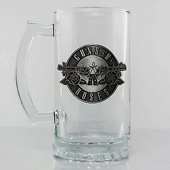Guns N' Roses Logo Premium Glass Stein