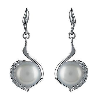Orton West Pearl Drop Earrings - Silver