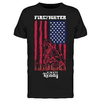 Brandman Ready W / Usa Flag Tee Men & apos; s -Bild av Shutterstock Men & apos; s T-shirt