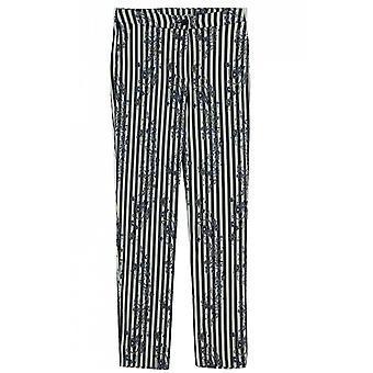 Lauren Vidal Striped Patterned Trousers