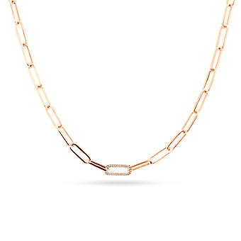 Necklace Links Bold 18K Gold and Diamonds