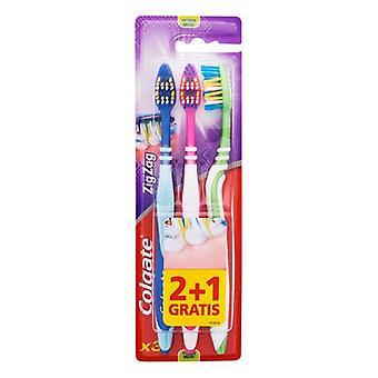 Cepillo de dientes Zig Zag Colgate (3 uds)