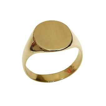 Christian 14 carat gold cachet ring