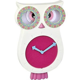 TFA Dostmann 60.3052.02 Quartz Wall clock 110 mm x 70 mm x 330 mm White pink