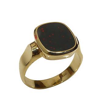 Christian gold heliotrope cachet ring