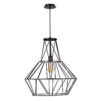 Lampada a Sospensione Cagex Color Nero in Metallo 50x50x149 cm