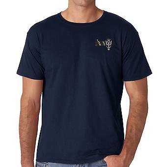 Colori Regimental merciana reggimento ricamato Logo - ufficiale cotone T Shirt