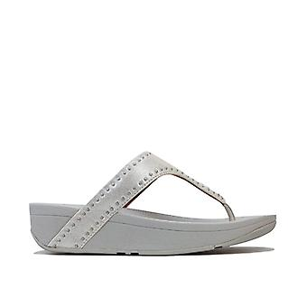 Women's Fit Flop Lottie Microstud Toe Thong Sandals in Silver