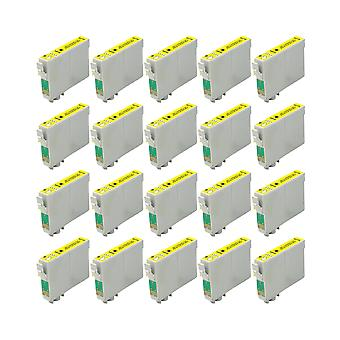 RudyTwos 20x Replacement for Epson Stag Ink Unit Yellow(ExtraHighYield) Compatible with Stylus B42WD, BX525WD, BX535WD, BX625FWD, BX630FW, BX635FWD, BX925FWD, BX935FWD, SX525WD, SX535WD, SX620FW, Work
