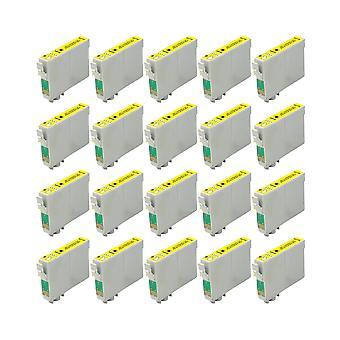 החלפת RudyTwos 20x עבור יחידת הדיו האייל של Epson (התשואה החוץ) תואם B42WD חרט, BX525WD, BX535WD, BX625FWD, BX630FW, BX635FWD, BX925FWD, BX935FWD, SX525WD, SX535WD, SX620FW, עבודה