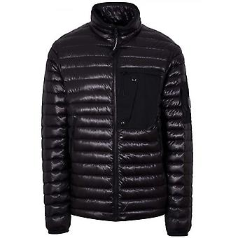 C.P. Company Black Quilted Lens Jacket