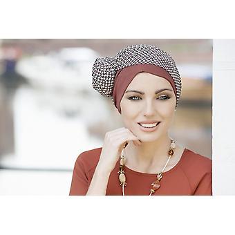 Headwear for cancer patients UK - Daisy Brick Polka Dot
