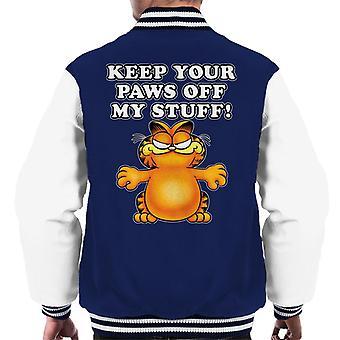 Garfield hålla tassar bort mina grejer män ' s Varsity jacka