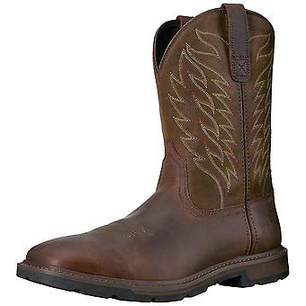 Ariat Mens 10020059 الجلود المغلقة توم منتصف العجل الأحذية الغربية