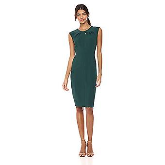 Brand - Lark & Ro Women's  Sleeveless Twist Neck Knot Sheath Dress, Em...