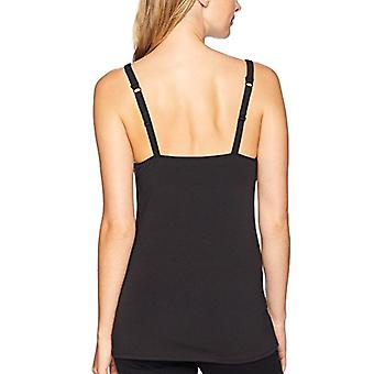 Brand - Arabella Women's Scoop Neck Nursing Tank, Jet Black, Small