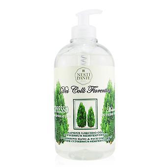 Dei Colli Fiorentini Refreshing Hand & Face Liquid Soap - Cypress Tree - 500ml/16.9oz