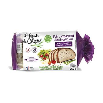 خبز ريفي خال من الغلوتين 260 غ