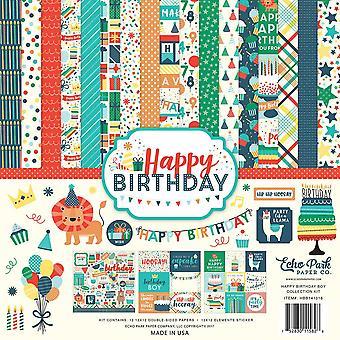 Echo Park Happy Birthday Boy 12x12 Inch Collection Kit