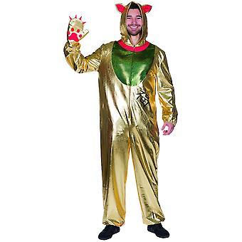 Winkekatze Gold Overall Cat Cat Tatze Hooded Overall Men's Costume Carnival Comic Carnival
