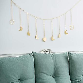 Metal/wooden Photo Wall Hanging Decoration - Round Piece, Sun, Moon Shape Photo