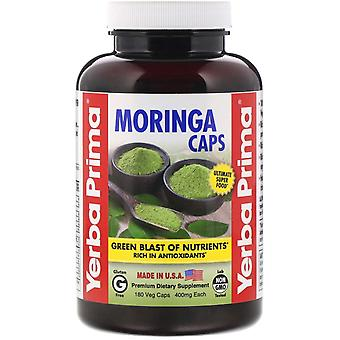 Yerba Prima, Moringa Caps, 400 mg, 180 Veg Caps