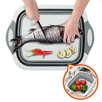 Multipurpose Chopping Board, Strainer, Vegetable Basket Collapsible Wash Dish
