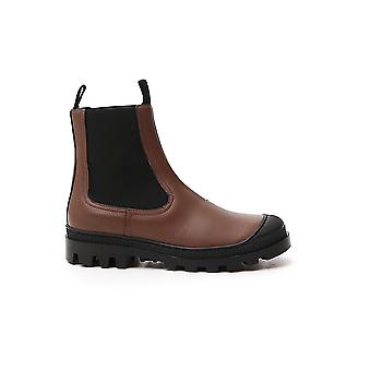 Loewe L815s05x054160 Women's Brown Leather Ankle Boots