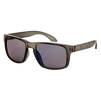 Gafas de sol Unisex transparente negro con lente de espejo (AZ-110)