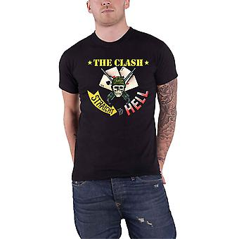 The Clash T Shirt Straight To Hell Single Band Logo new Official Mens Black