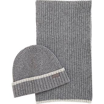 Barbour Cromer Beanie And Scarf Set