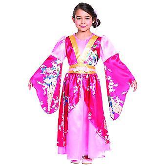 Asiatische  Prinzessin Kinderkostüm Kimono Mädchen Japan Japanerin Karneval