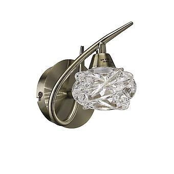 Inspireret Mantra - Maremagnum - Væglampe 1 Light G9, Antik Messing