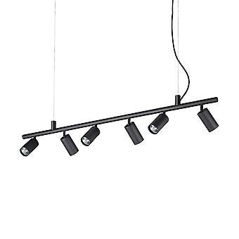 Ideal Lux DYNAMITE - Innenstrahler Deckenleuchte 6 Leuchten schwarz, GU10