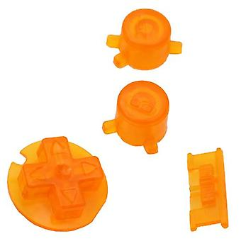 Replacement button set a b d-pad power switch mod for nintendo game boy color - clear orange | zedlabz