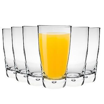 Bormioli Rocco Luna Highball Cocktail Gläser Set mit Bubble Base - 450ml - Packung mit 6