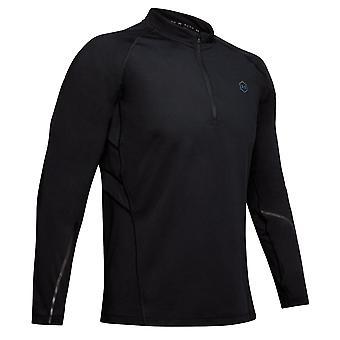 アンダーアーマーラッシュコールドギアラン1/2ジップメンズランニングフィットネスシャツトップブラック