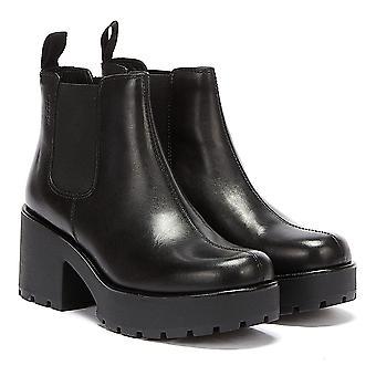 Bottes en cuir noir Vagabond Dioon Pour femmes