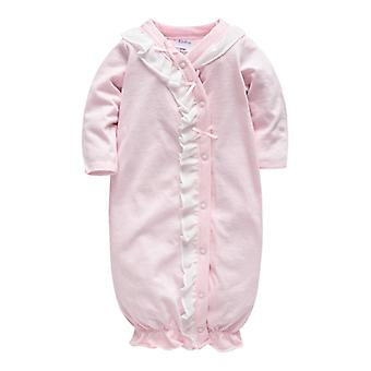 Vêtements de nuit pour bébés - Full Sleeve O Neck Cotton Button Clothing Newborn Rompers