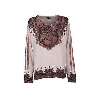 Etro 193589173990 Women's Multicolor Wool Sweater
