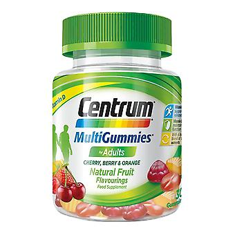 1 x 30 Tablets Centrum Mulivitamins Fruit Gummies Adult Supplement Two a Day