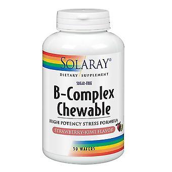Solaray B-Komplex Kaubar, Erdbeer-Kiwi 50 Waffeln