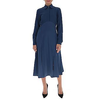 Victoria Beckham 2320wdr001665b Women's Blue Polyester Dress