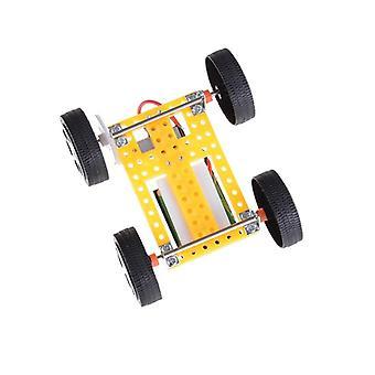 Mini Énergie solaire Poudre jouets Diy Voiture Assembler Véhicule Racer Enfant Kid