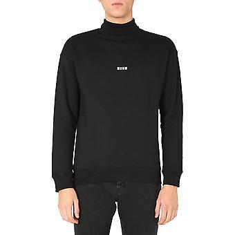 Msgm 2940mm10820759999 Men's Black Cotton Sweatshirt