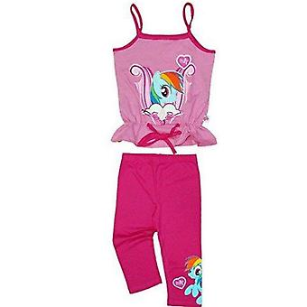 My little pony girls top and leggings outfit set