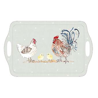 Home Living Hens & Chicks Tea Tray HH2088