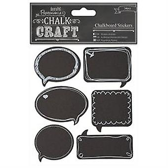 Chalk Craft Chalkboard Stickers 24/pkg-speech Bubbles