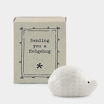 "Matchbox Porcelain Hedgehog - ""Lähetä sinulle hedgehug"""