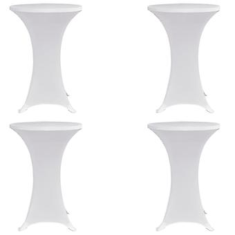 Standing table coughs 4 pcs. x 70 cm White Stretch